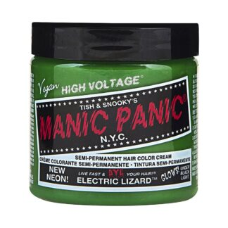 manic panic high voltage grønn uv hårfarge 118 ml electric lizard classic pot 70427