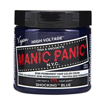 manic panic high voltage blå hårfarge 118ml shocking blue classic pot 70431