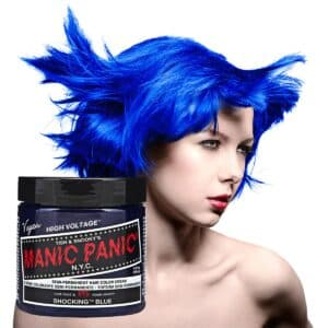 manic panic classic high voltage blå hårfarge 118ml shocking blue model pot 70431