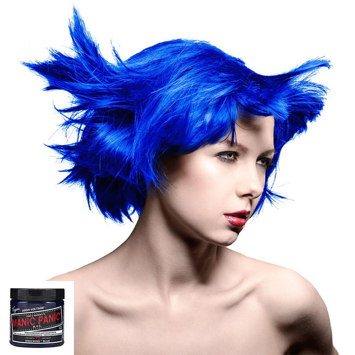 manic panic high voltage blå hårfarge 118ml shocking blue classic model 70431