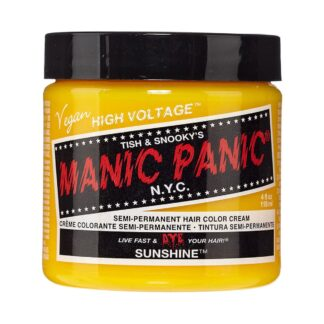 manic panic high voltage gul hårfarge 118ml sunshine classic pot 70433