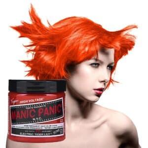 manic panic classic high voltage oransje hårfarge 118ml electric tiger lily model pot 70434