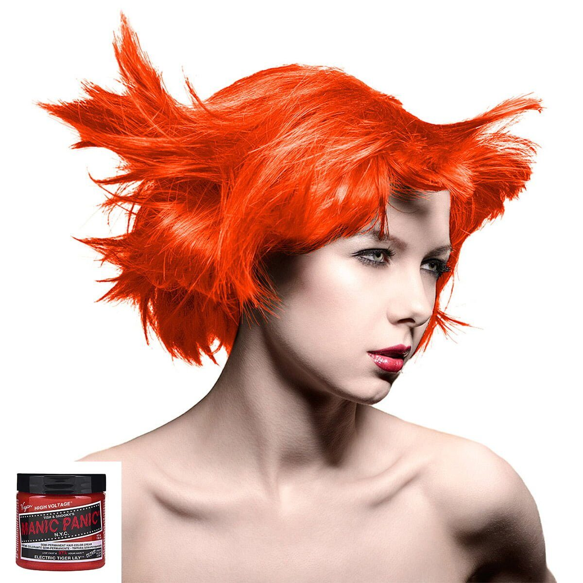 manic panic high voltage oransje hårfarge 118 ml electric tiger lily classic model 70434