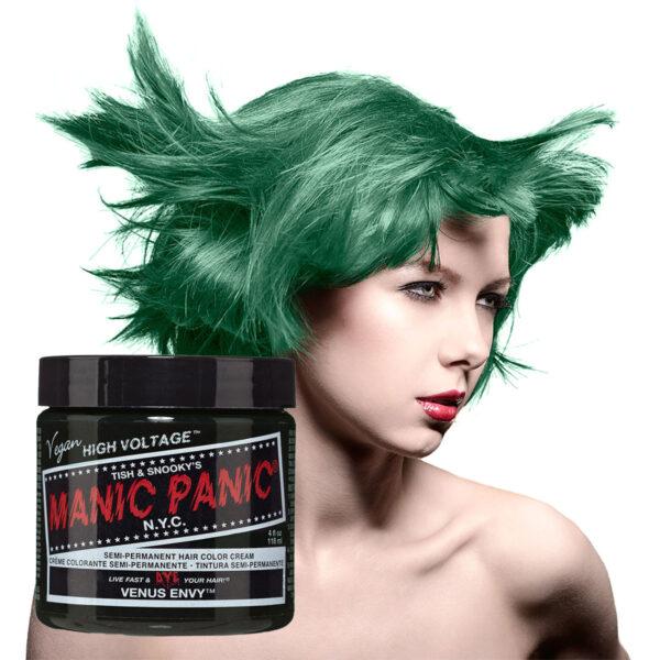 manic panic classic high voltage grønn hårfarge 118ml venus envy model pot 70437