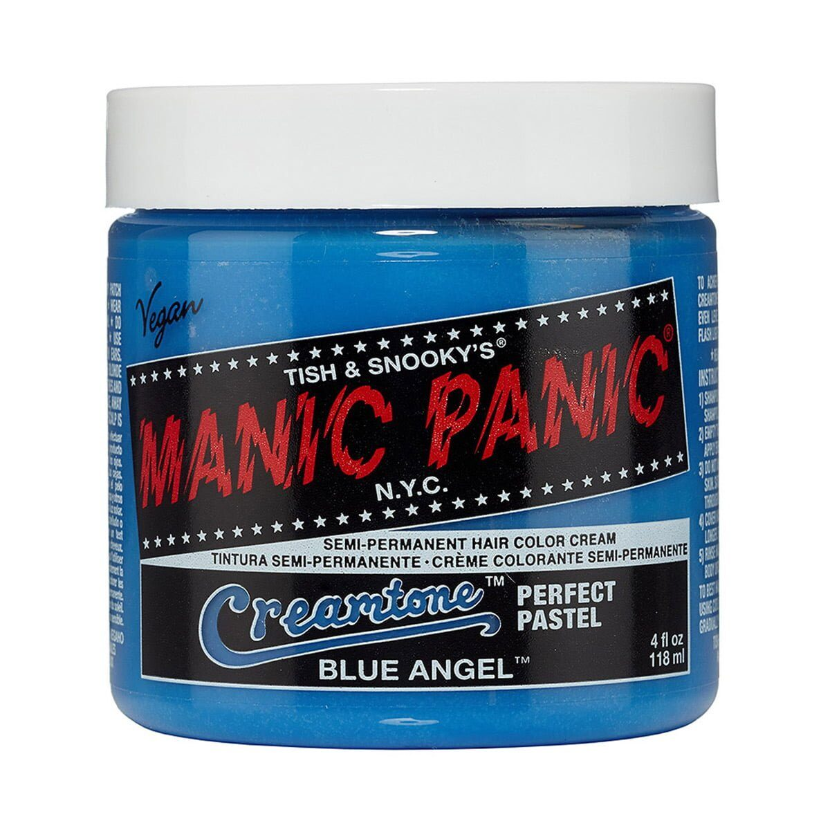 manic panic creamtones blå pastel hårfarge 118 ml blue angel pot 70487