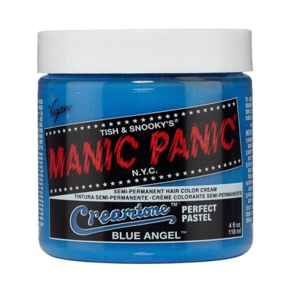 manic panic creamtones blå pastel hårfarge 118 ml blue angel pot 70487