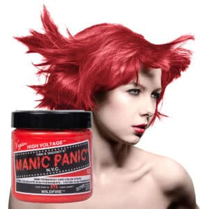 manic panic classic high voltage rød uv hårfarge 118ml wildfire model pot 8001