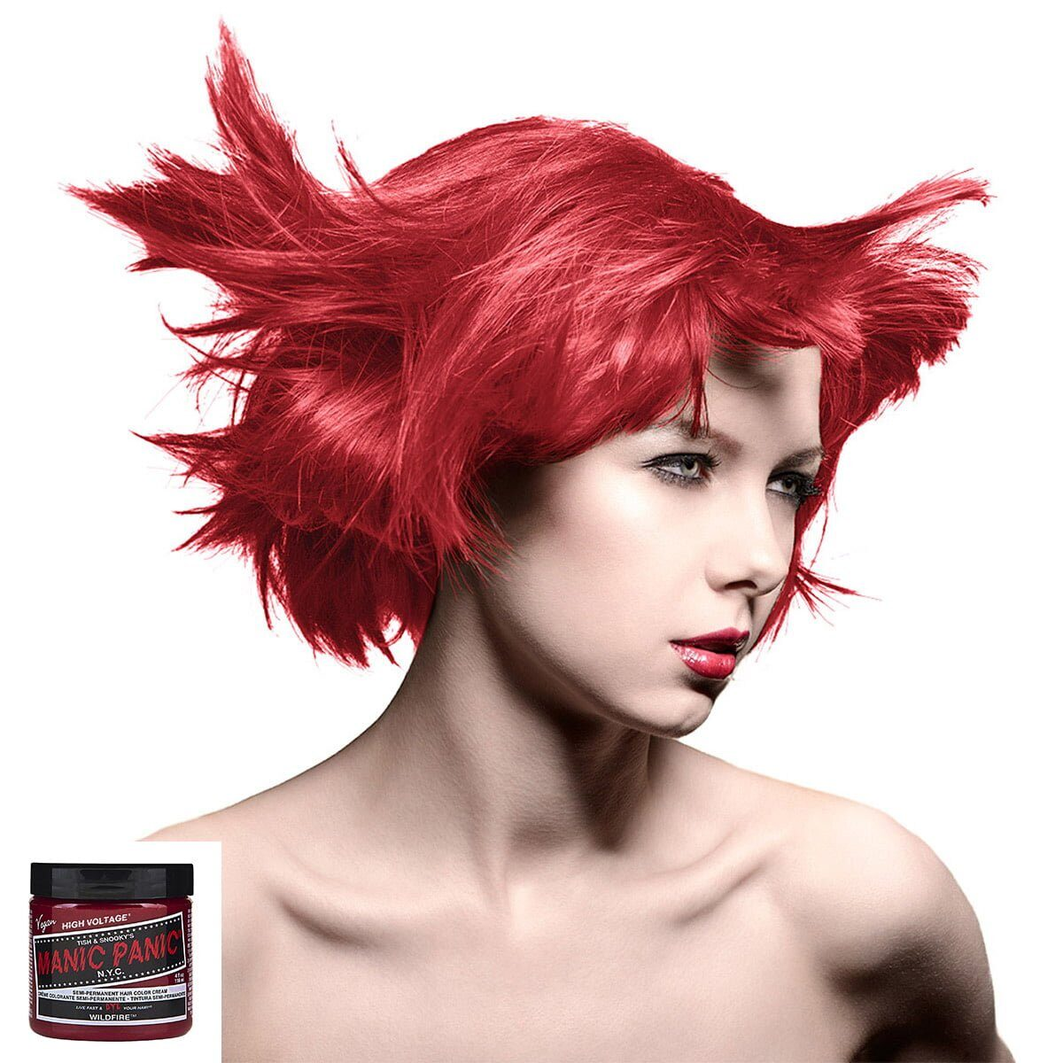 manic panic high voltage rød uv hårfarge 118 ml wildfire classic model 8001