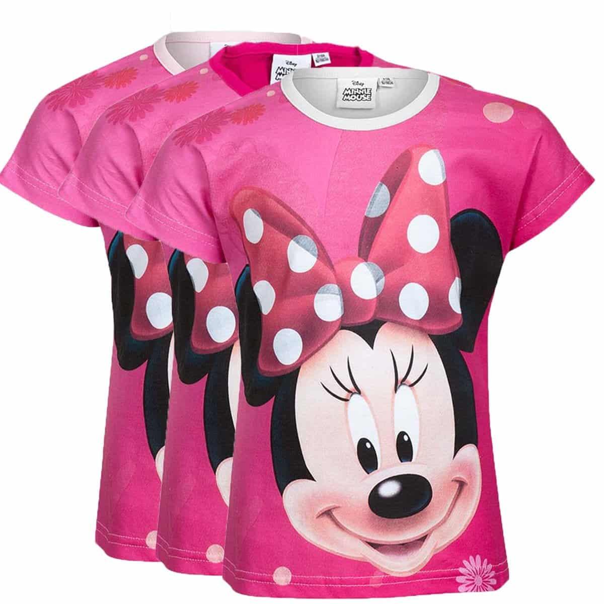 c721038f Rosa t-skjorte | t-skjorte til barn med Minni Mus motiv | RiffRaff.no