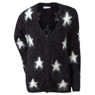 fluffy star svart cardigan til jente BELLE