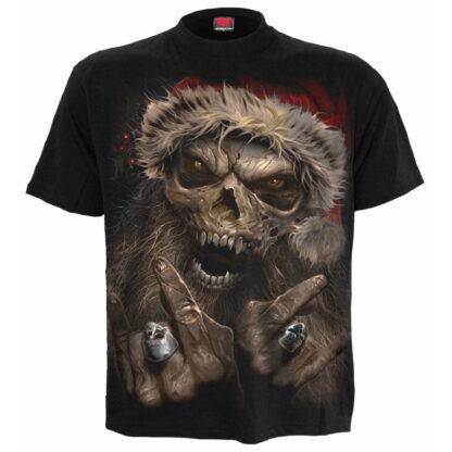 rock santa svart t-skjorte til herre K043M101