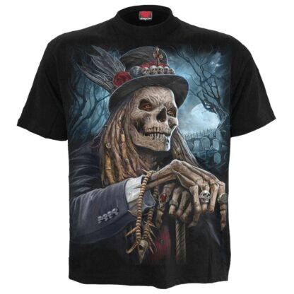 voodoo catcher svart t-skjorte til herre K050M101