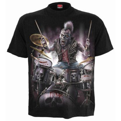 zombie backbeat svart t-skjorte til herre T156M101