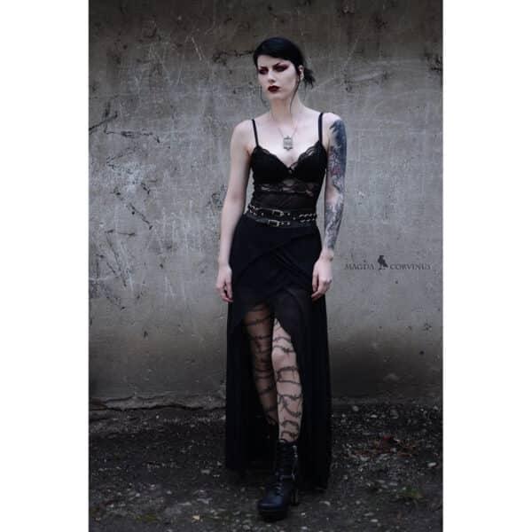 barbed wire gothic tattoo nude strømpebukser TS8595