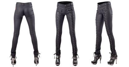 svart skinny bukse med snøring TR1-261/14