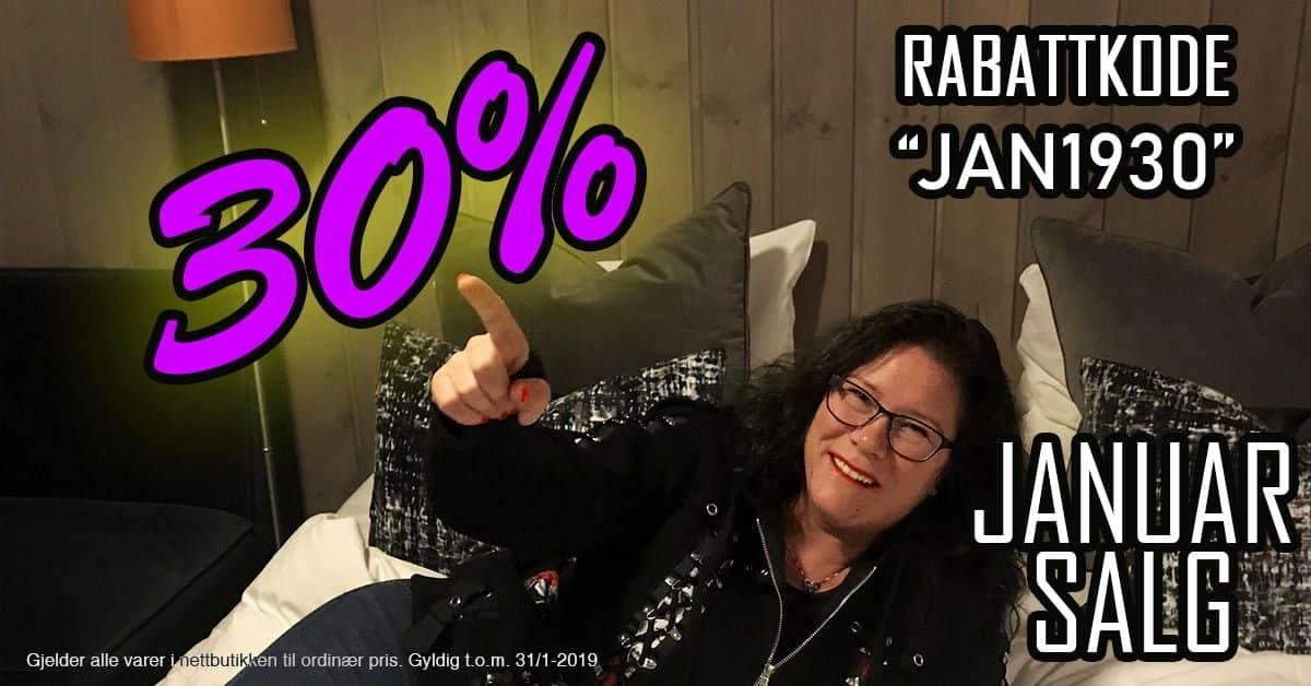Januarsalg 30 prosent avsalg hos RiffRaff.no Rabattkode / kupongkode gyldig t.o.m 31/1-2019