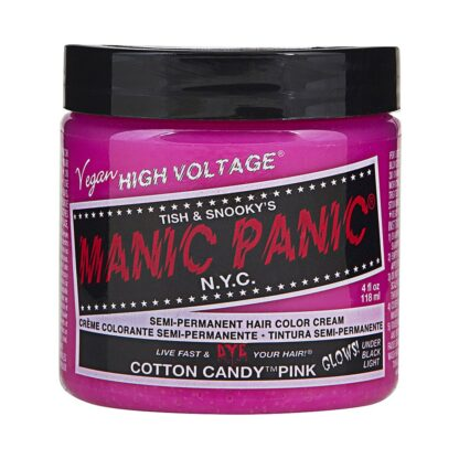 manic panic high voltage rosa uv hårfarge 118 ml cotton candy pink classic pot 54501