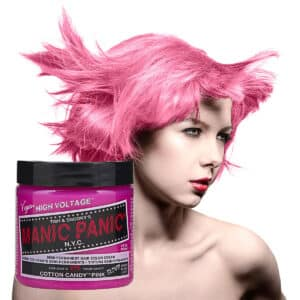 manic panic classic high voltage rosa uv hårfarge 118ml cotton candy pink model pot 54501