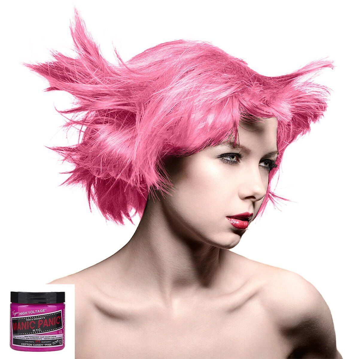 manic panic high voltage rosa uv hårfarge 118 ml cotton candy pink model 54501