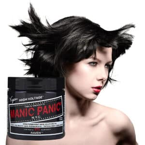 manic panic classic high voltage svart hårfarge 118ml raven model pot 62933