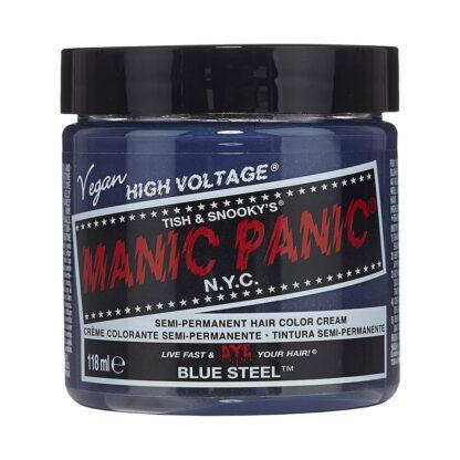 manic panic high voltage sølvblå hårfarge 118 ml blue steel pot 7041