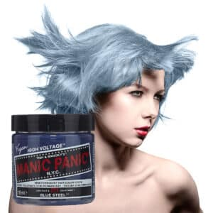 manic panic classic high voltage sølvblå hårfarge 118ml blue steel model pot 7041
