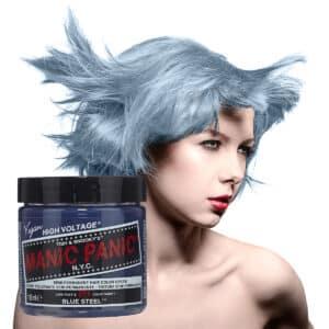 manic panic classic high voltage sølvblå hårfarge 118ml blue steel model pot 7041