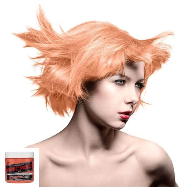manic panic creamtones oransje pastell hårfarge 118 ml dreamsicle model 70484