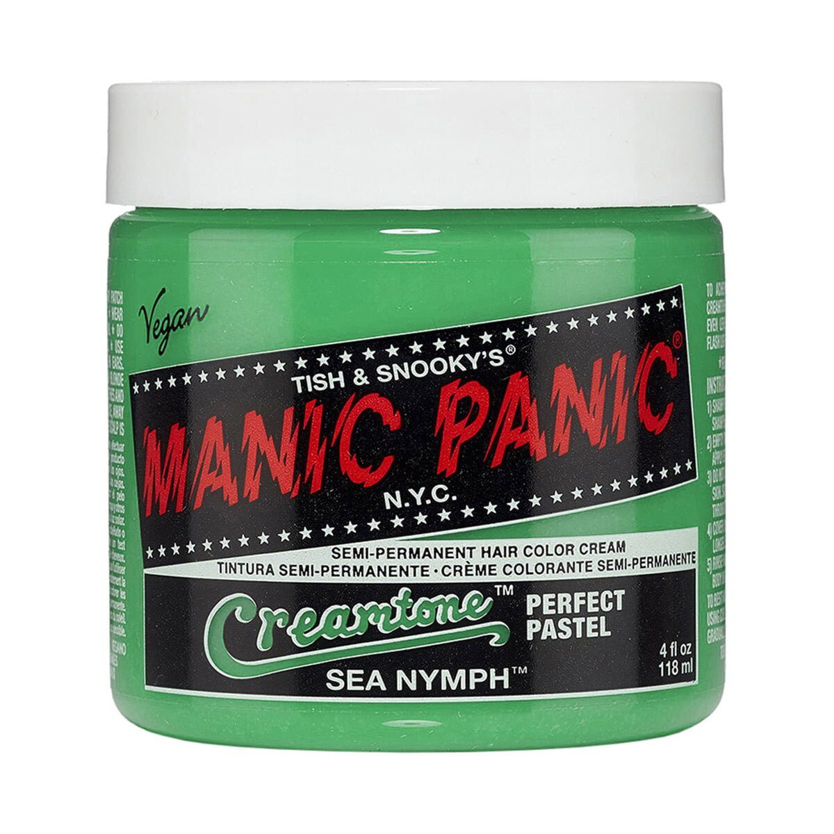 manic panic creamtones grønn pastell hårfarge 118 ml sea nymph pot 70485