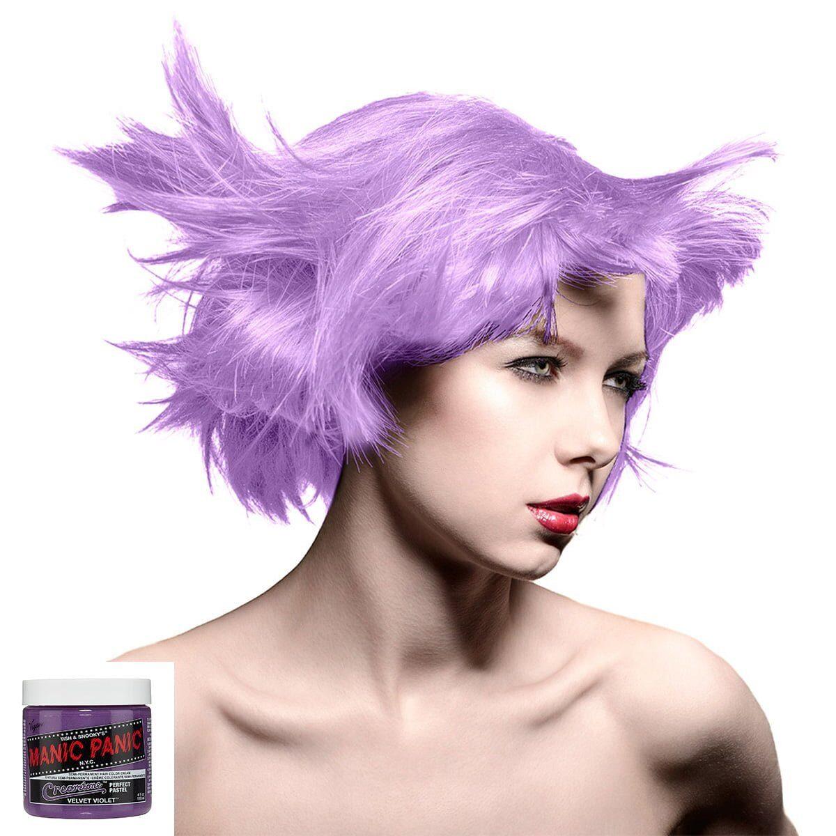 manic panic creamtones lilla pastell harfarge 118 ml velvet violet model 70486