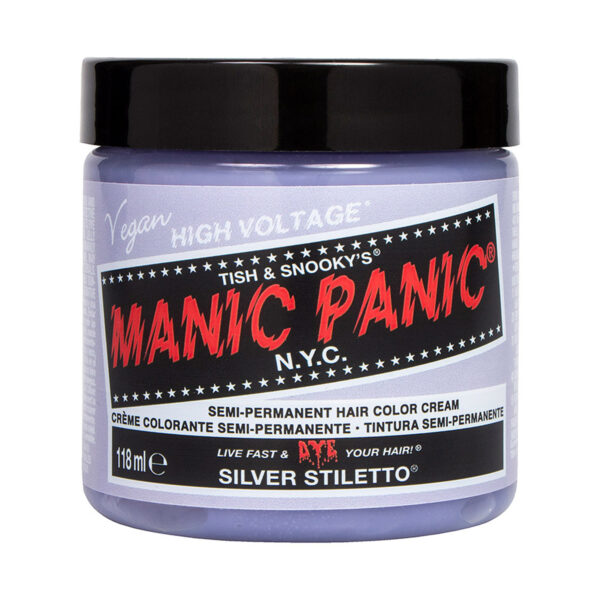 manic panic classic high voltage sølv hårfarge 118ml silver stiletto pot 70603