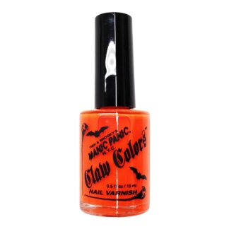oransje uv neglelakk manic panic claw color electric lava 9055