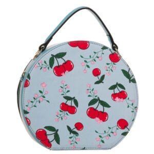 blindside rund veske med kirsebær motiv BBN7027