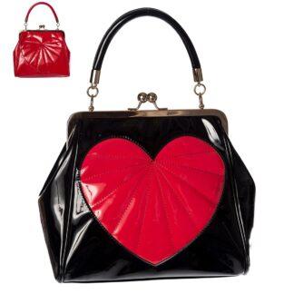 heartbreaker håndveske med hjerte pynt BG34001