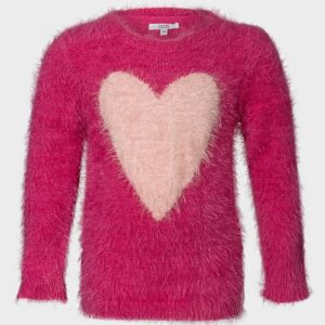 heart fluffy genser til jente GTOP0186
