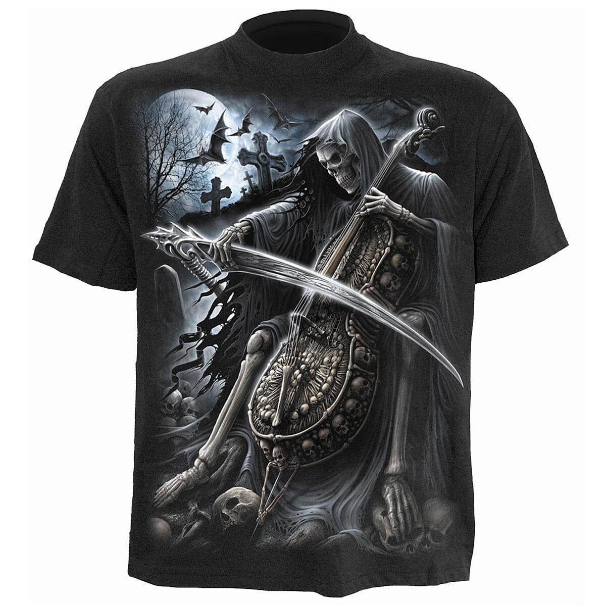 symphony of death svart t-skjorte til herre K013M101