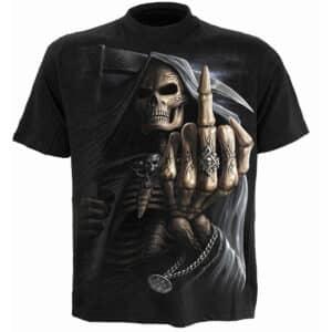 bone finger svart t-skjorte til herre M005M101