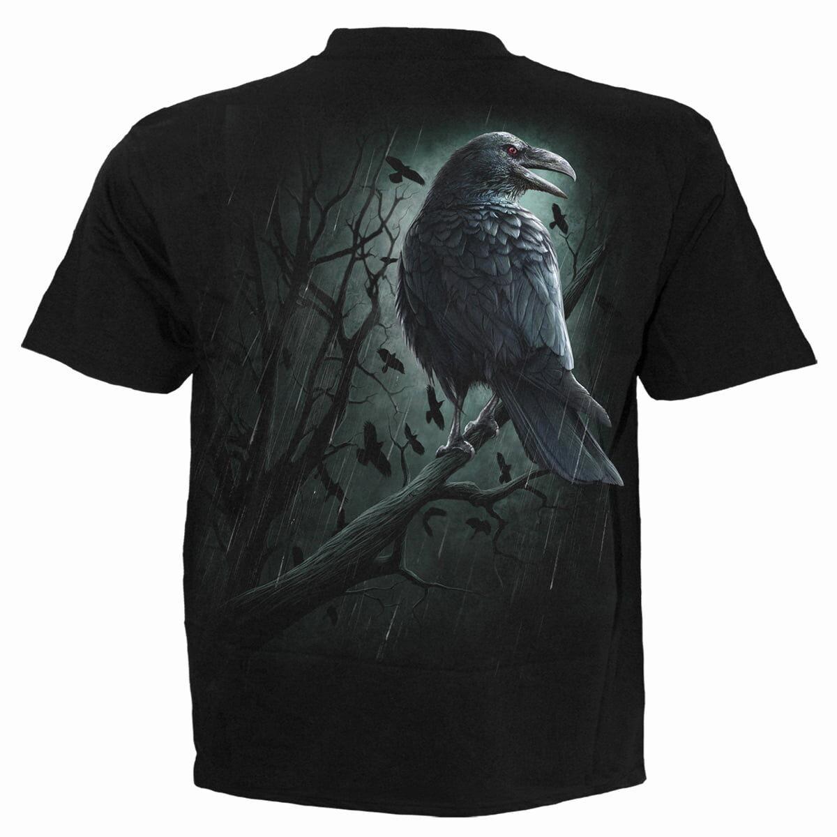 shadow raven svart t-skjorte til herre M027M101