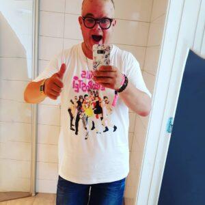 Luxus Leverpostei hvit t-skjorte med trykk av bandet 510-997