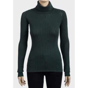 aristopunk grønn genser med høy hals 5140180