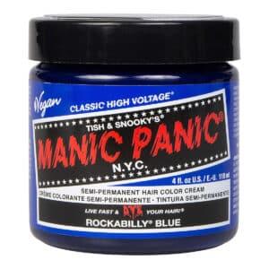 manic panic classic high voltage blå hårfarge 118ml rockabilly blue pot 70430