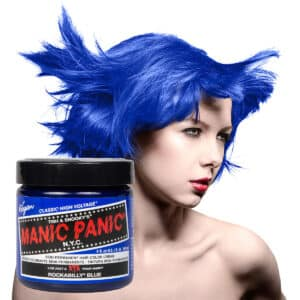 manic panic classic high voltage blå hårfarge 118ml rockabilly blue model pot 70430