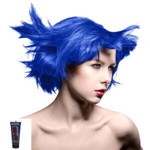 manic minis blå hårfargeprøve rockabilly blue model 70588