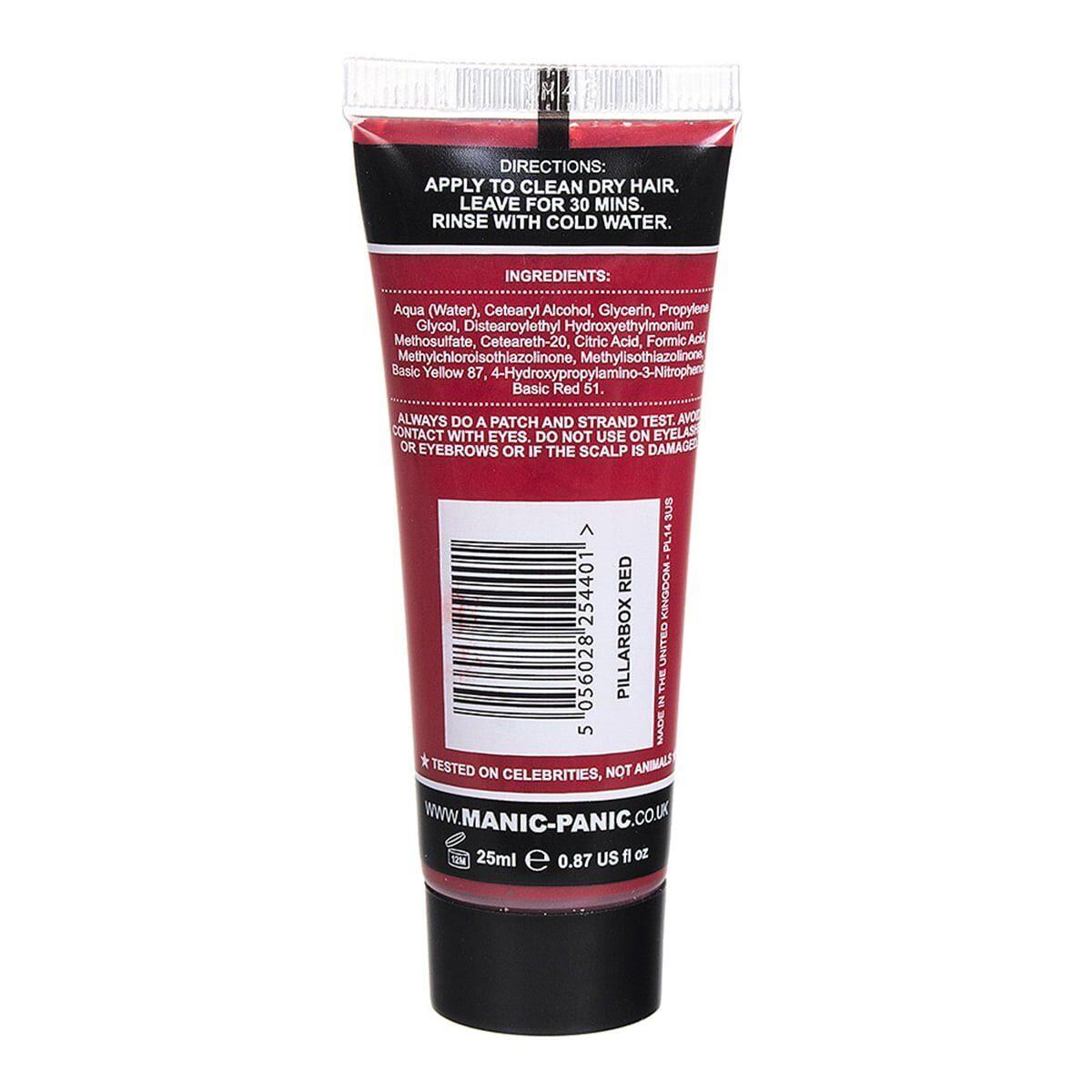 manic minis rød hårfargeprøve pillarbox red sample 70592