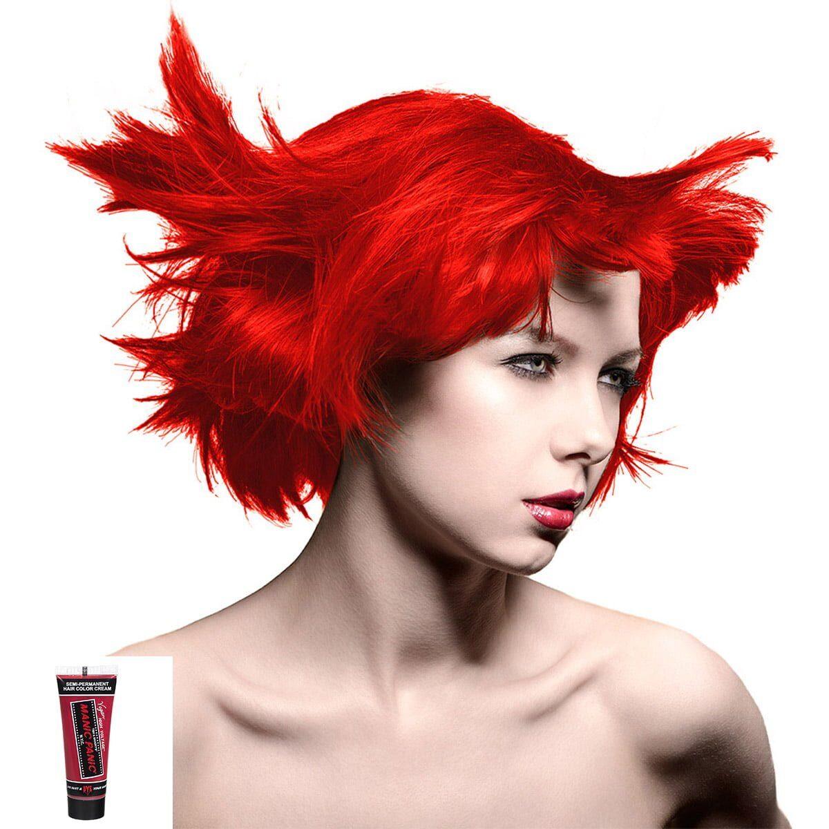manic minis rød hårfargeprøve pillarbox red model 70592