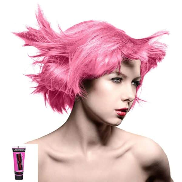 manic minis rosa uv hårfargeprøve cotton candy pink model 70595