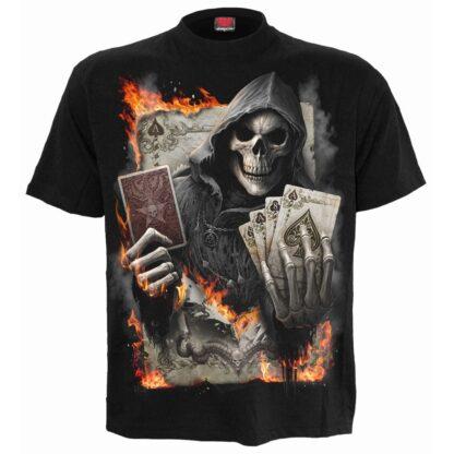 ace reaper svart t-skjorte til herre T155M101