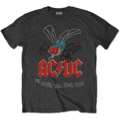 ac/dc fly on the wall tour 1985 grå t-skjorte til herre ACDCTS41MC