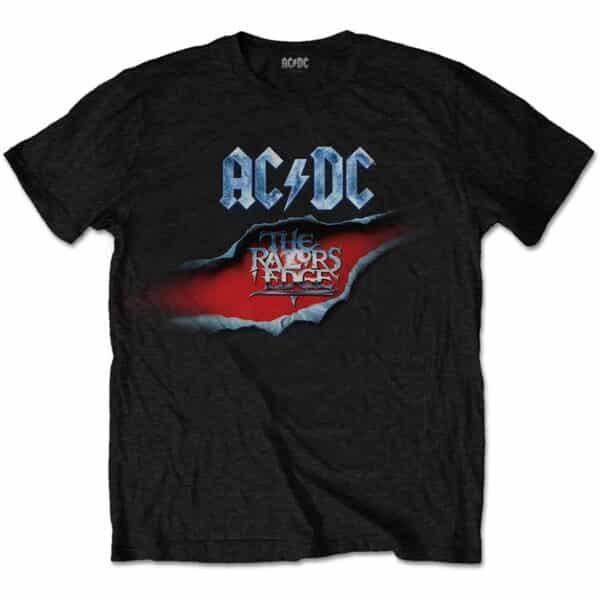 ac/dc the razors edge svart t-skjorte til herre ACDCTS61MB