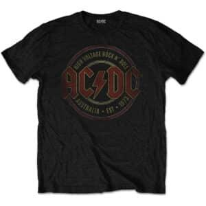 ACDCTS63MB ac/dc Est. 1973 svart t-skjorte til herre